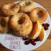 cranberry-orange donuts
