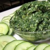 green food: healthy spinach dip