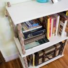 painted bookshelf DIY