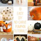 10 Easy DIY No-Carve Pumpkin Tutorials - A Roundup