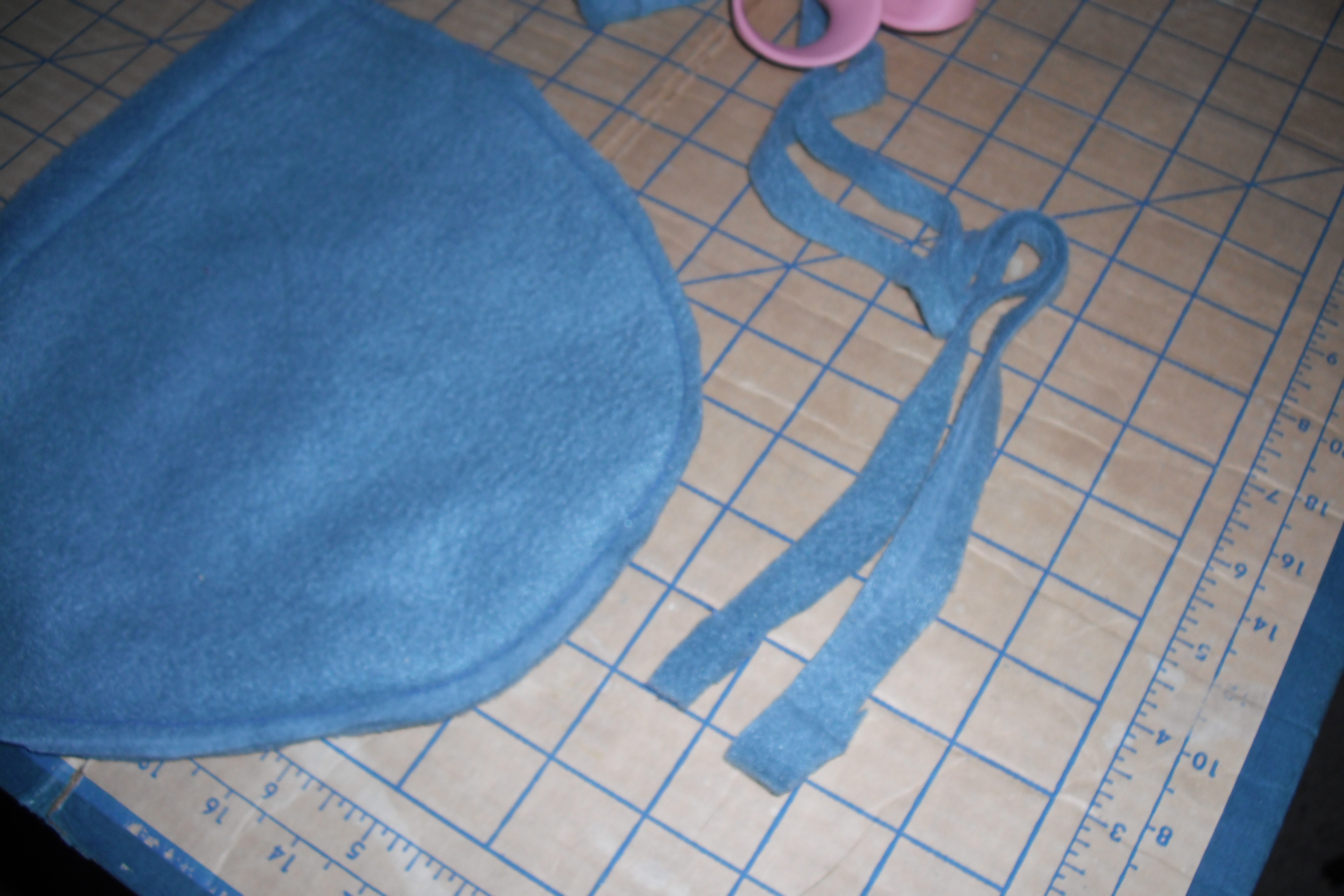 Fleece Beanie Tutorial- Trim the Extra Fabric