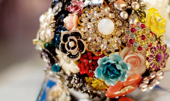 Bridal Bouquet Made Of Jewels : Vintage brooch bridal bouquets a week from thursday