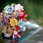 vintage brooch bridal bouquets