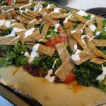 Black Bean Taco Pizza [Vegetarian]