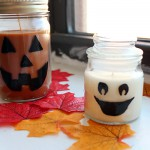 spooky halloween candle DIY