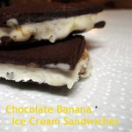 chocolate banana gelato ice cream sandwiches