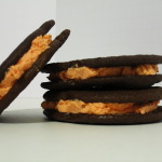 pumpkin-shaped sandwich cookies