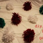 d.i.y holiday pom pom garland