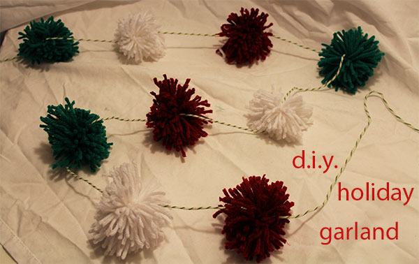 d.i.y. holiday garland