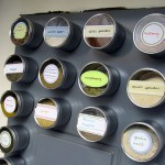 DIY magnetic spice rack