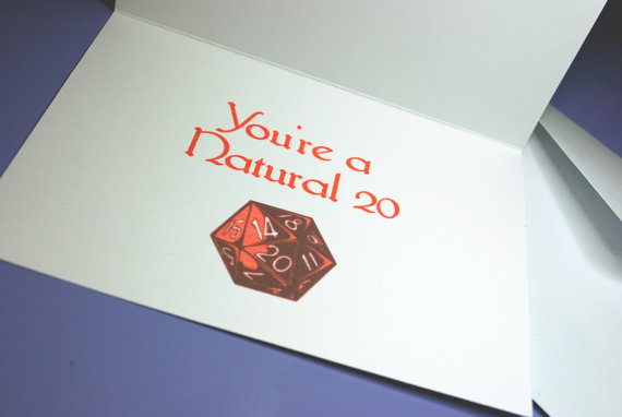 Natural 20 Nerdy Valentine's Day Card