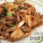 low carb pad thai with tofu