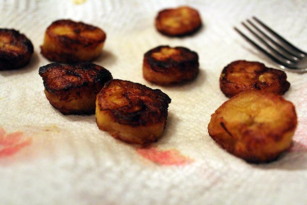 plantains on plate