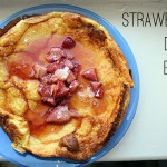 dutch babies with homemade strawberry maple syrup