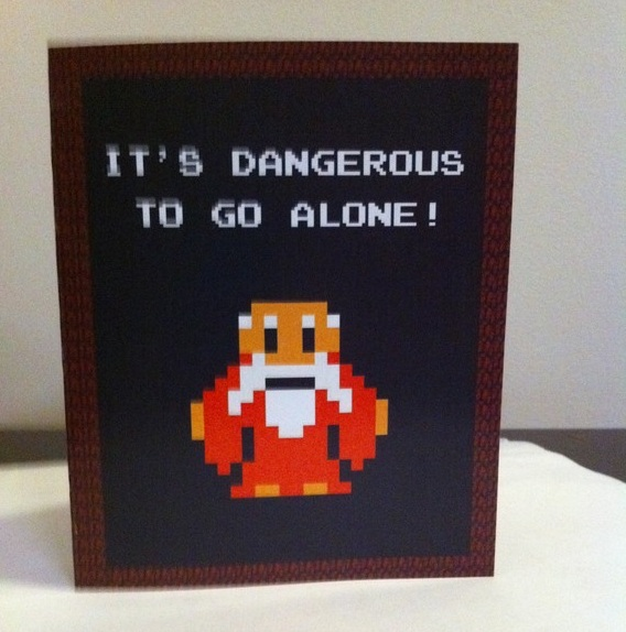 Legend of Zelda Nerdy Valentine's Day Card